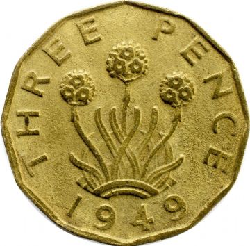 1937 to 1952 Brass Three Pence George VI Grades From Fine to VF